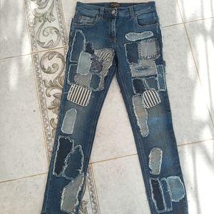 Dolce &Gabbana patch jeans